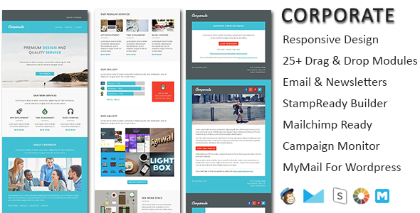Leads - Multipurpose Responsive Email Template with Online StampReady Builder & Mailchimp Editor - 4