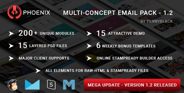 Roxi - Multipurpose Responsive Email Template With Online StampReady Builder Access - 1