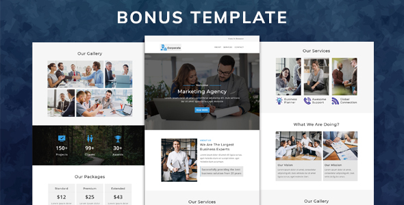 MONSTER - Multipurpose Responsive Email Pack with online Stampready & Mailchimp Builders Access - 1