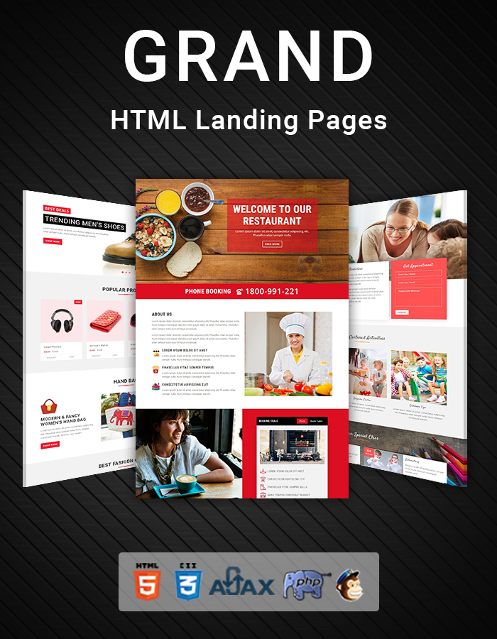 Grand - Lead Generating HTML Landing Pages - 1