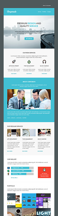 Corporate - Email Newsletter Templates - By Pennyblack Templates