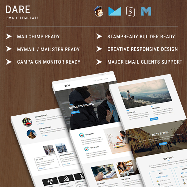 Dare  Responsive Email Template  Pennyblack Templates