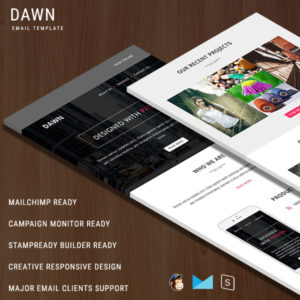 DAWN - Multipurpose Responsive Email Template With StampReady Builder Online Access