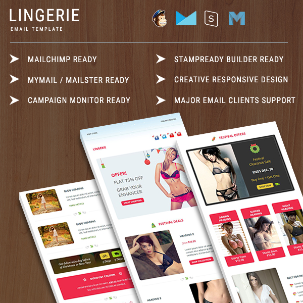 Lingerie  Responsive Email Template  Pennyblack Templates