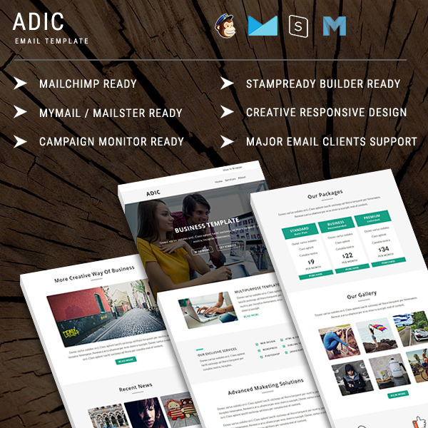 Adic - Responsive Email Template