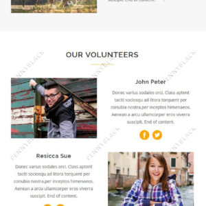 Charity - Responsive Email Template With StampReady Builder Online Access