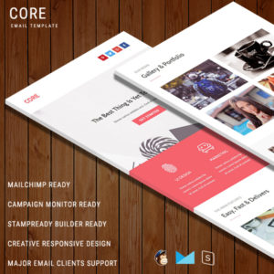CORE - Multipurpose Responsive Email Template With StampReady Builder Online Access