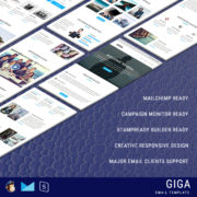 GIGA - Multipurpose Responsive Email Template With StampReady Builder Online Access