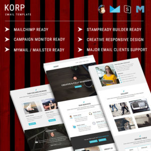KORP - Multipurpose Responsive Email Template With StampReady Builder Online Access