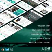 LIGHT - Multipurpose Responsive Email Template With StampReady Builder Online Access