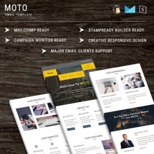 Moto - Multipurpose Responsive Email Template With StampReady Builder Online Access