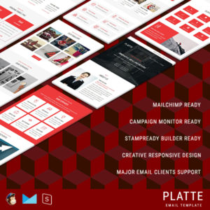PLATTE - Multipurpose Responsive Email Template With StampReady Builder Online Access
