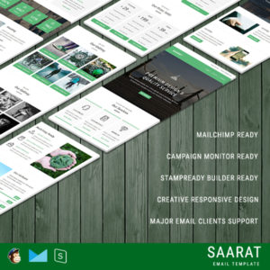 SAARAT - Multipurpose Responsive Email Template With StampReady Builder Online Access