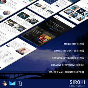 SIROHI - Multipurpose Responsive Email Template With StampReady Builder Online Access