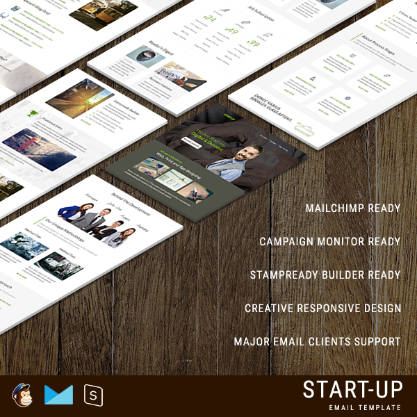 StartUp - Multipurpose Responsive Email Template With StampReady Builder Online Access