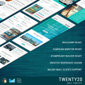Twenty20 - Multipurpose Responsive Email Template With StampReady Builder Online Access
