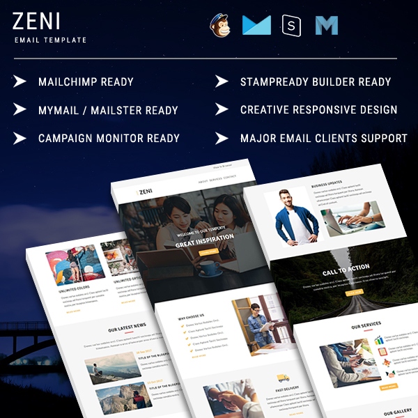 zeni responsive email template zeni newsletter template pennyblack. Black Bedroom Furniture Sets. Home Design Ideas