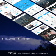 Crow - Multipurpose Email PSD