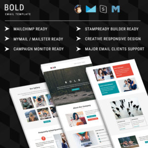 BOLD - Multipurpose Responsive Email Template With Online StampReady Builder Access