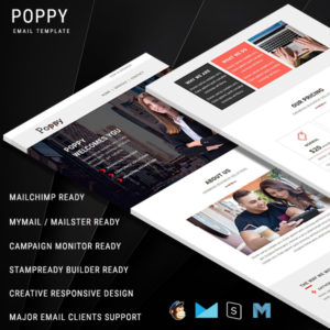 POPPY - Multipurpose Responsive Email Template With Online StampReady Builder Access