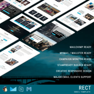 RECT - Multipurpose Responsive Email Template With Online StampReady Builder Access