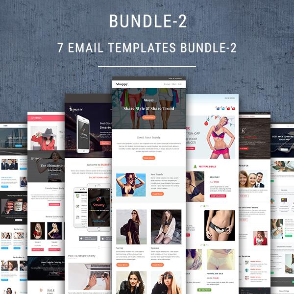 7 Email Newsletter Templates Bundle 2 Pennyblack Templates