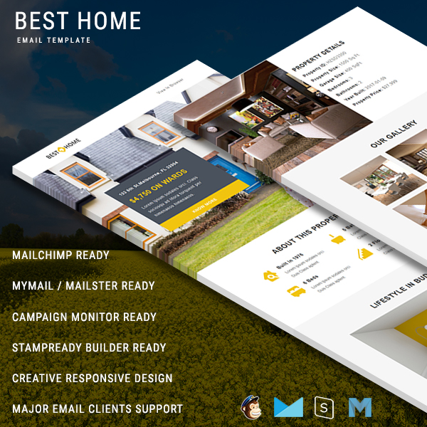 Best Home Responsive Email Template Pennyblack Templates