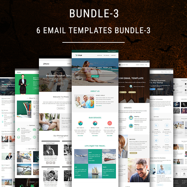 6 email templates bundle 3 pennyblack templates for Yahoo ecommerce templates