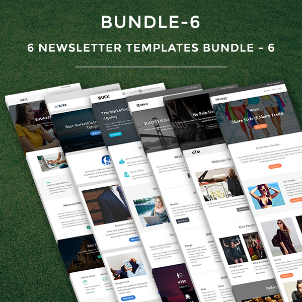 yahoo ecommerce templates - 6 newsletter templates bundle 6 pennyblack templates