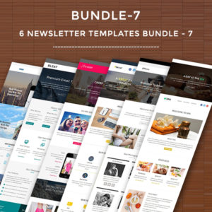 6 Newsletter Templates Bundle - 7