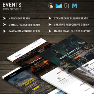 EVENTS - Multipurpose Responsive Email Templates With Online StampReady Builder Access