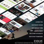 EVOLVE - Multipurpose Responsive HTML Landing Pages
