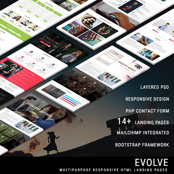 EVOLVE - Multipurpose Responsive HTML Landing Pages