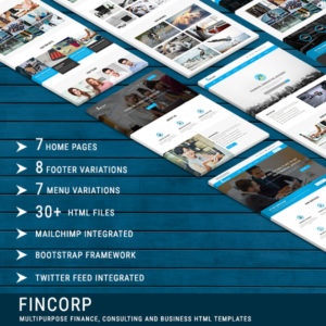 FINCORP - Multipurpose Finance, Consulting and Business HTML Templates