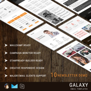 Galaxy - 10 StampReady Responsive Multipurpose Email Templates