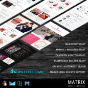Matrix - Multipurpose Responsive Email Template + Stampready Builder