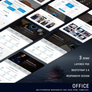 OFFICE - Multipurpose Responsive One Page HTML Template