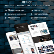 OFFICE - One Page WordPress Theme