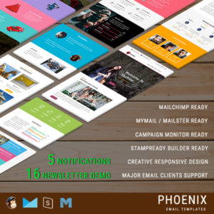 PHOENIX - Multi-Concept Responsive Email Pack - Newsletters + Notifications