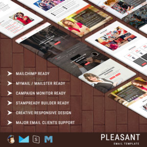 Pleasant - Business & Marketing Email Templates With Online Builder Access