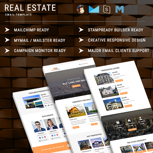 Real Estate Responsive Email Template PennyBlack Templates