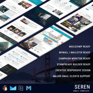 SEREN - Multipurpose Responsive Email Template With Online StampReady Builder Access
