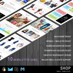 SHOP - Responsive Shopping Email Pack with Stamp Ready Builder Access