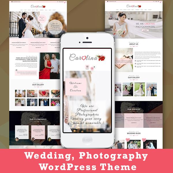 Carolina Wedding Photography WordPress Theme Pennyblack Templates