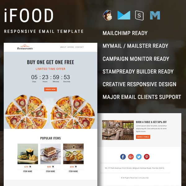 Ifood Multipurpose Responsive Email Newsletter Template Pennyblack Templates Ifood Multipurpose Responsive Email Template With Countdown Timer